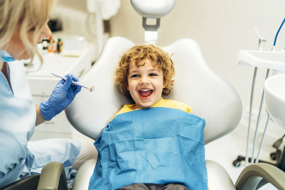 child at a dentist appointment
